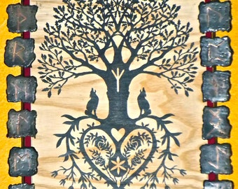 Rune stones, Picture frames, Viking runes, Rune picture frame, Esoteric picture frame