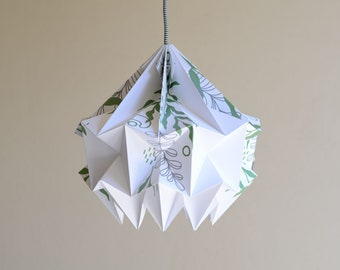 SNOW paper origami lampshade - leaves