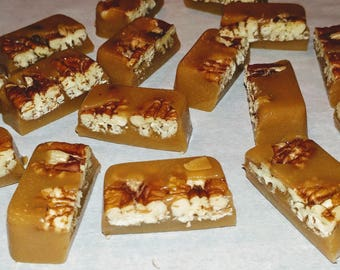 24 CARAMELS Homemade Candy w/ Toasted Pecans!!!
