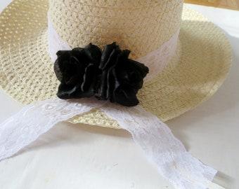 Women's Sun hat - Summer Wide Brim hat- Daisy- Beach- Pool hat