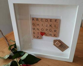 Handmade & Bespoke Scrabble Art Frames