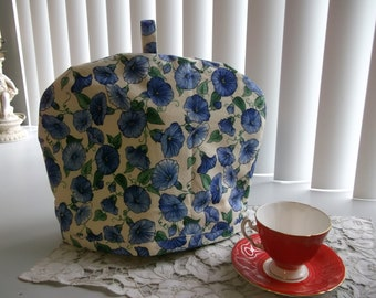 Tea Cosy or Cozy Morning Glory Floral Tea Cosy with Insulated Liner. Floral Tea Cozy Morning Glory's