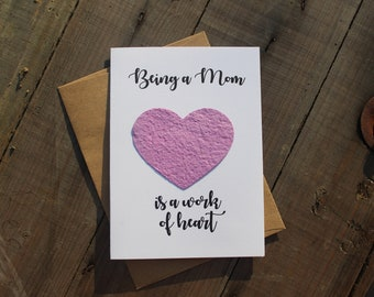 Being a Mom is a work of Heart - Heart Seed Paper