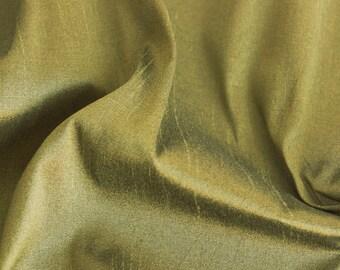 Olive Green Art Silk Fabric By The Yard Silk Curtain Fabric Apparel Fabric Silk Dupioni Fabric Indian Silk Fabric By The Yard