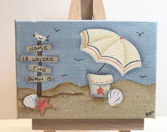 Home is Where the Beach Is  Mini Canvas