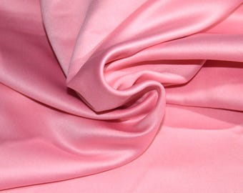 "1.66 yards Petal Pink Bridal Satin Fabric 58"" Wide"