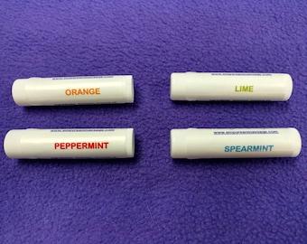 Essential oil lip balms