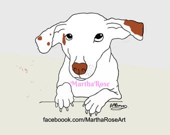 A5 print of Joe the Jack Russell
