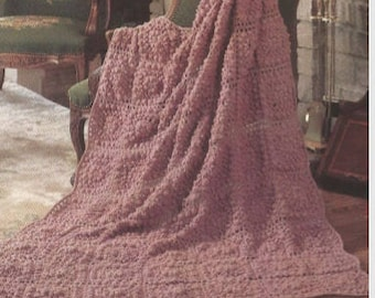 Crochet Inspiration Afghan Motifs throw blanket bed cover lap blanket /OhhhMama/ vintage pattern instant download pdf