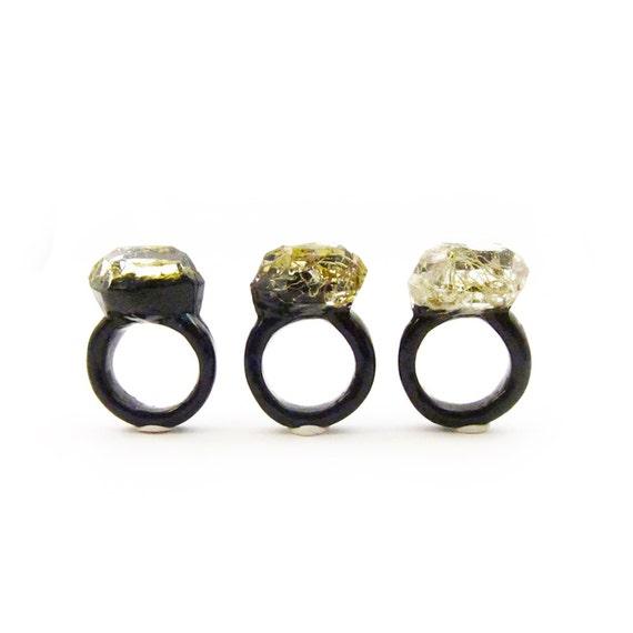 Moss Resin Ring • Nature Inspired Rings • Terrarium Ring • Terrarium Moss Jewelry • Botanical Ring •  • Size 5