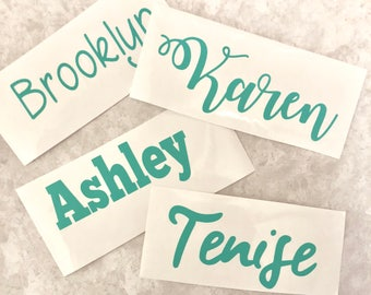 Custom Name Vinyl decal for planners or journals