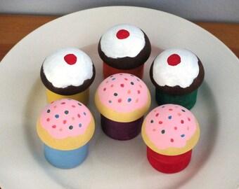 Wooden Pretend Cupcakes