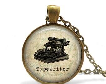Typewriter Necklace Writer Gift Journalist Gift Typewriter Jewelry Vintage Antique Typewriter Keychain Author Gift for Writer Keychain