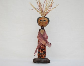 Corn Spirit gourd indian corn figure