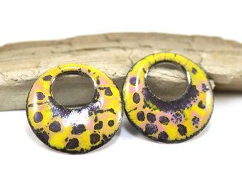 Enameled Copper Components~Antique Yellow~Bohemian Beads-Boho