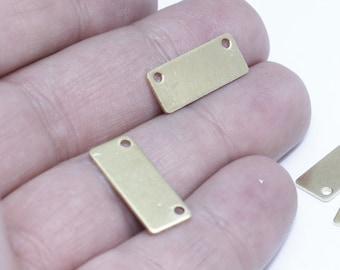 10 Pcs 8x20mm Brass Nameplate Bar, Personalized Bar, Horizontal Bar, Rectangle Bar, AE54