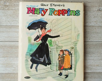 The Magic of Mary Poppins | Walt Disney | Whitman | Vintage Children's Book | 1964 | Hardcover