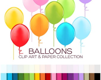 Balloons Clipart Baby Clipart Clip Art Birthday Clipart Printable Planner Printable Stickers Scrapbook Stickers Digital Download - A00035