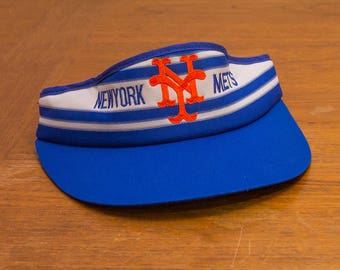 1980s New York Mets Adjustable Visor - new old stock - never worn