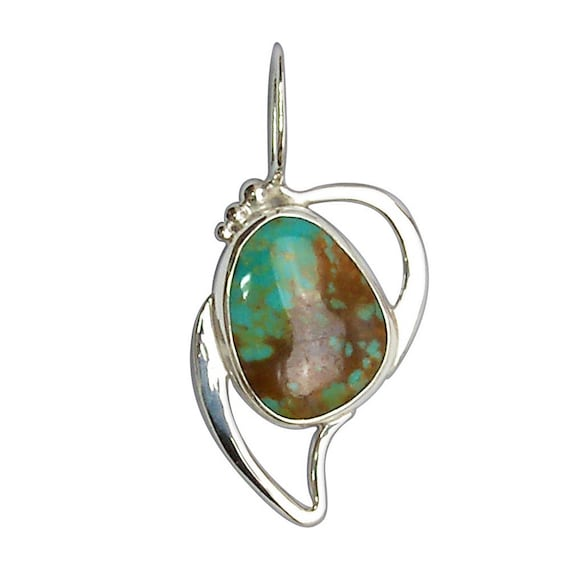 Kingman Turquoise and Sterling Silver Pendant  pturh2915