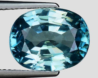 "HUGE! 8.99cts Blue Oval Blue Zircon Natural Loose Gemstone ""SEE VIDEO"""