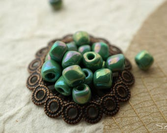 Opaque Peridot, Seed Beads, Czech Beads, N407