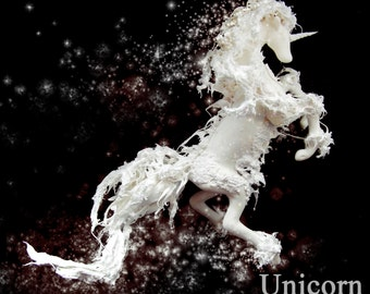 unicorn star water polymer clay fantasy art doll OOAK horse spirit