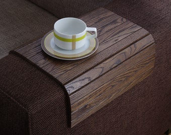 Ottoman Tray Wood BROWN, Laptop Tray Wood, Sofa Tray Table, Sofa Table, But First Coffee,Wood MacBook Stand,Wood End Table,Coffee Table Tray