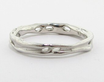 Pierced and Melted Band, Silver