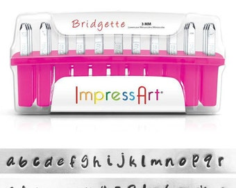 1 set letter stamp ImpressArt 3mm Bridgette lowercase lowercase