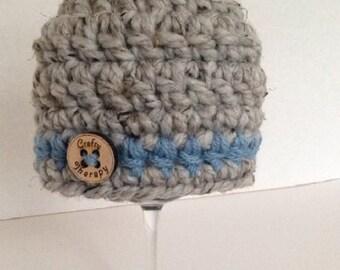 Crochet newborn hat, crochet baby hat, crochet infant hat, infant boy hat, baby coming home hat, baby beanie, baby boy hat, baby girl hat