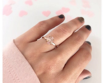 Rose Quartz Ring, Promise Ring,  Rose Quartz Engagement Ring, Raw Gemstone Ring, Anniversary Ring, Rose Quartz Jewelry, Engagement Ring