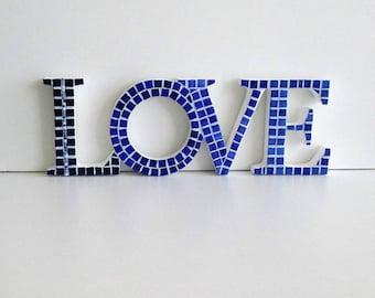 Word LOVE in mosaic
