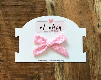Pink Checkered bow limited editon