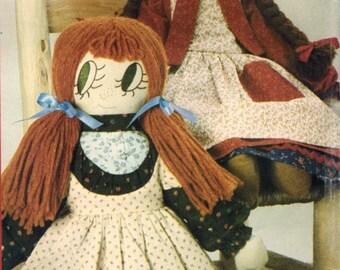 1980s Butterick 4313 UNCUT Vintage Sewing Pattern Bonnie's Bundles Soft Rag Dolls