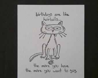 4 pc Stamping Up Happy Birthday Cat