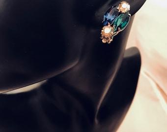 1950's Rhinestone Clip Earrimgs