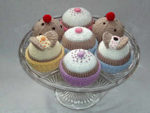 Knitting Cakes Images : Knitting pattern instant download butterfly cakes fairy