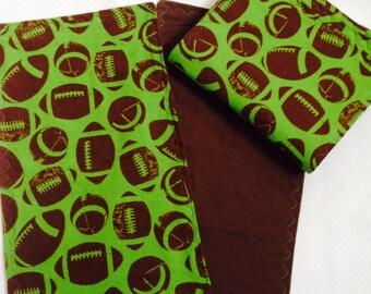 Football Baby Burp Cloths