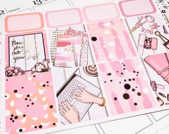 Plan Your Day Kit - Rose Gold FOILED - Perfect For The Erin Condren Life Planner