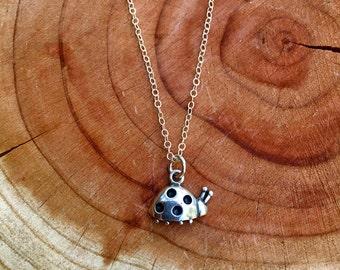 Sterling Silver Ladybug Necklace