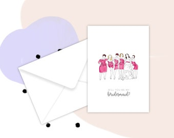 Bridesmaid Card - Will you be my bridesmaid - I can't say I do without you - Maid of Honor