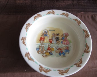 Royal Doulton, Bunnykins,  1 x straight sided cereal bowl