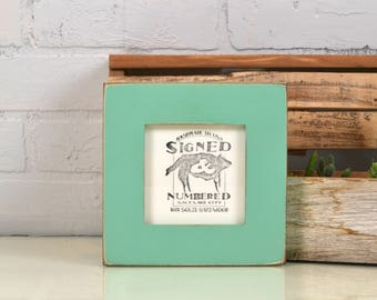 """4x4 Square Picture Frame in 1.5 inch Standard Style with Vintage Robin's Egg Finish - IN STOCK - Same Day Shipping Frame Green 4 x 4"""""""