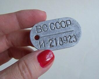 Vintage Tag Token Pin Badge USSR Soviet Military token. Soviet Army officer token.