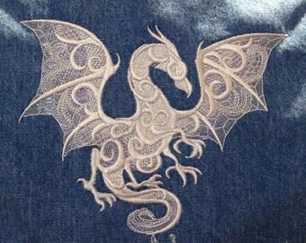 Custom boys apron with dragon for Theresa N.