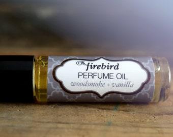 Woodsmoke and Vanilla Perfume Oil -  Firewood, Fir Needle, Vanilla
