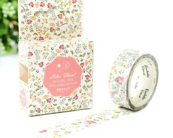 Flora Washi Tape,Masking Tape, Flower Masking Tape, Journal Sticker, Flora Sticker,Kawaii Stationery