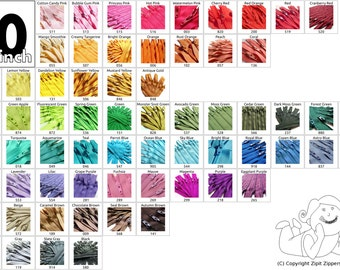 20 Inch Mix and Match 50 YKK Zippers Choose Your Own Colorful Assortment