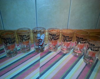 Washington High School  Massillon Ohio  Vintage band drinking glasses